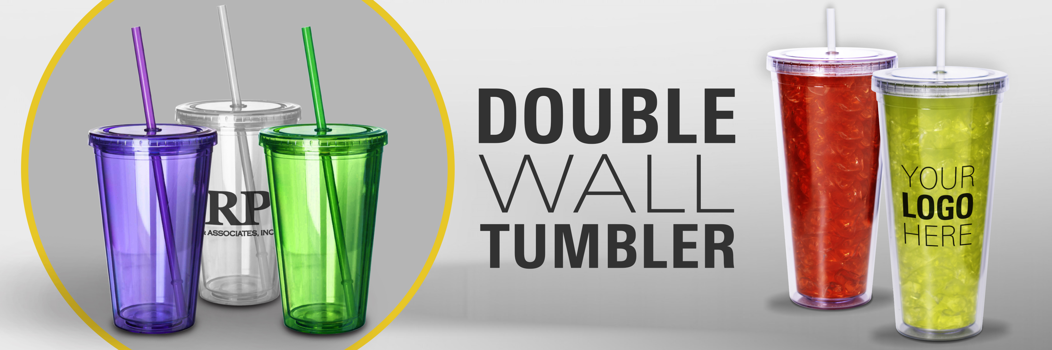 Double Wall Acrylic Tumblers in bulk