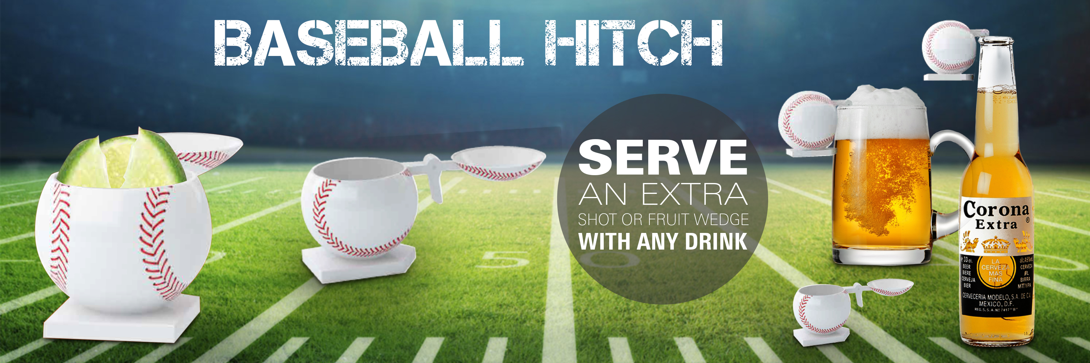 Baseball Hitch Shot Glass Custom