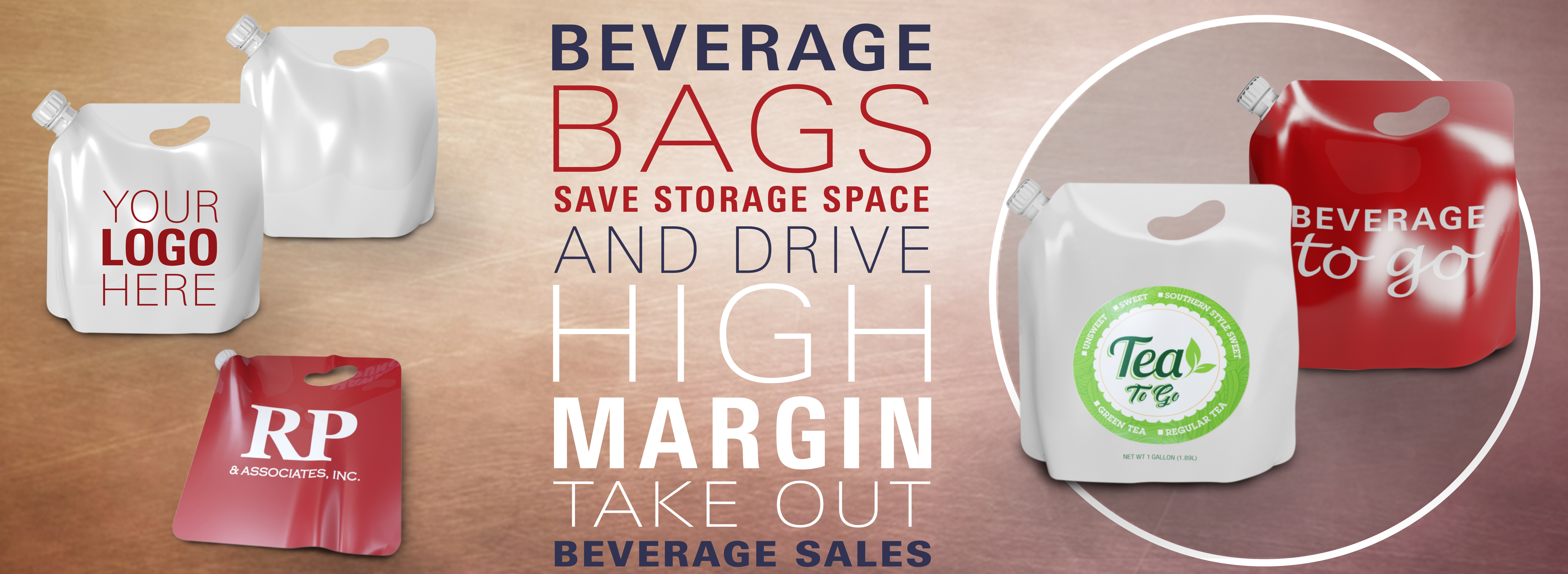 Beverage Bags for catering and takeout
