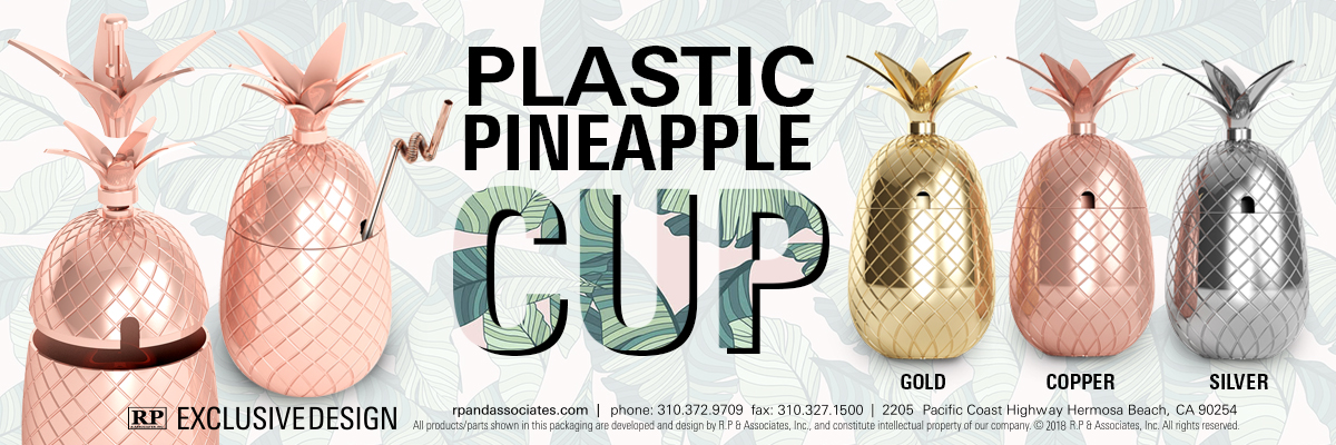 plastic electroplated pineapple cup