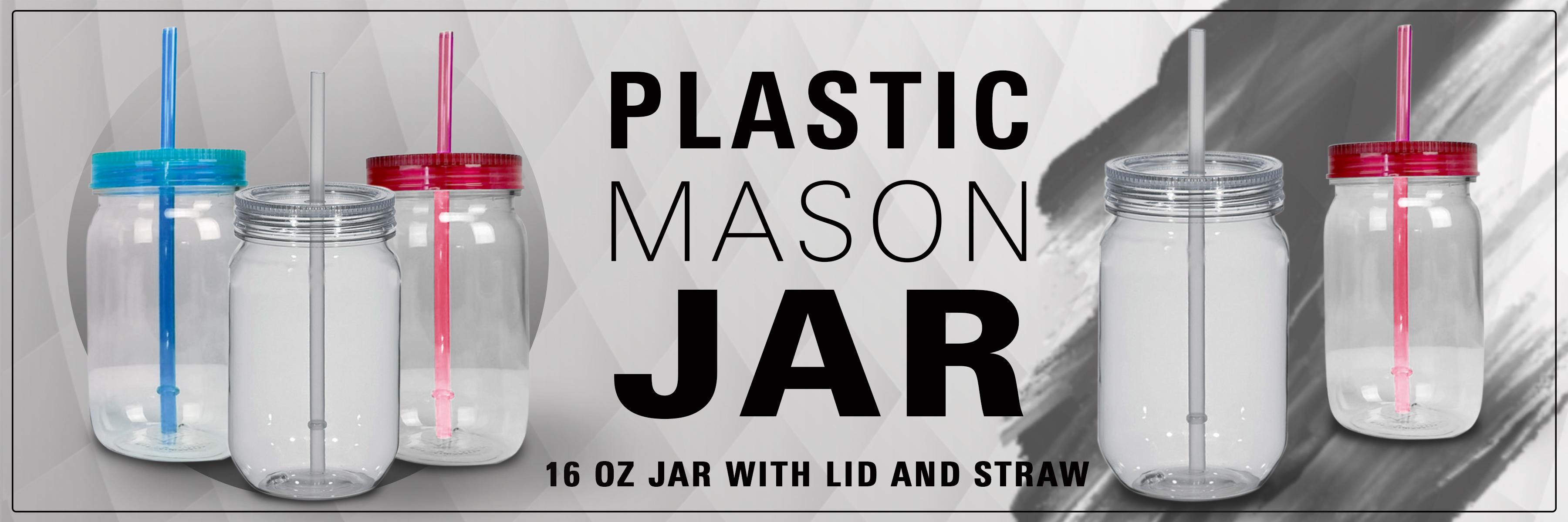 Plastic Mason Jars Custom Logo