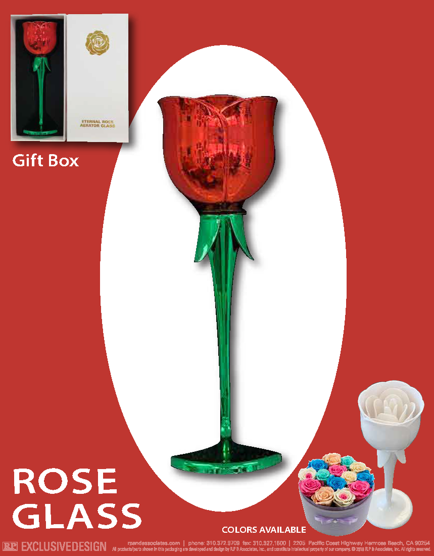 Rose Glass Red