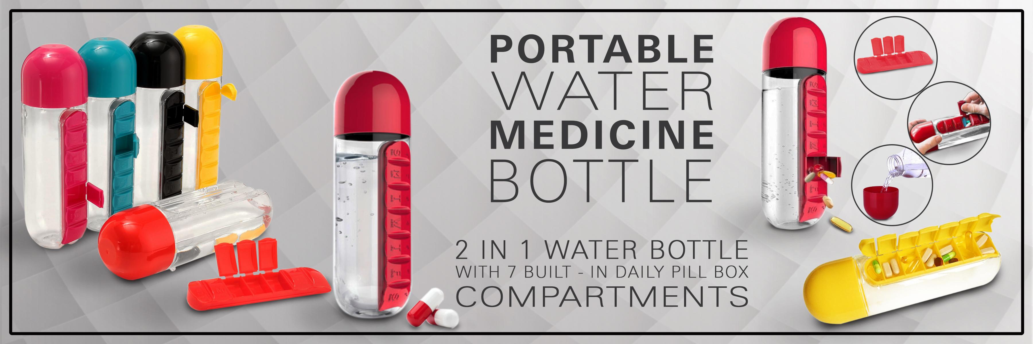 water bottle pill medicine organizer