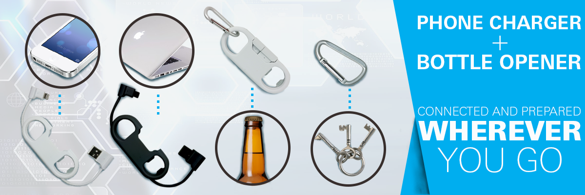 phone charger and bottle opener in one