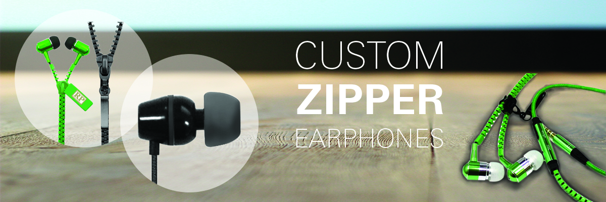 custom Zipper Earphones, Headphones