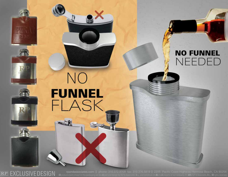 Big mouth no funnel flask