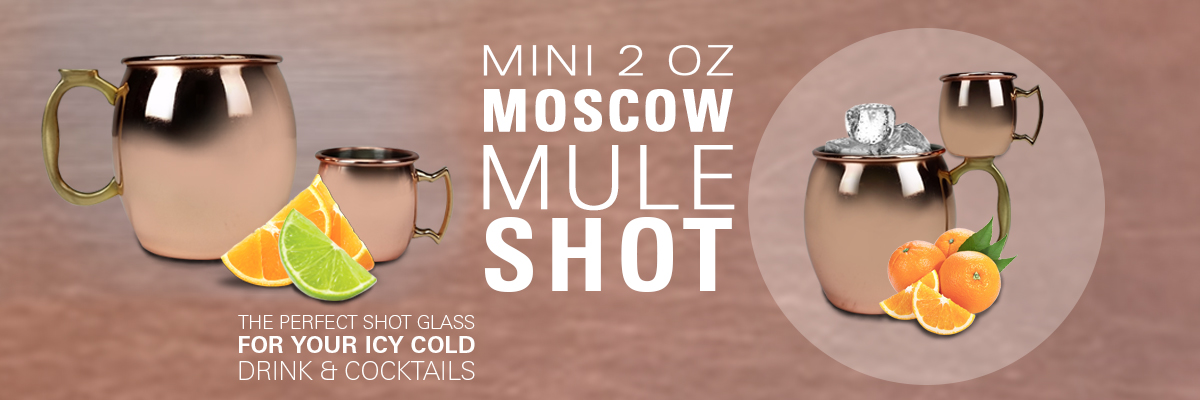 2oz moscow mule mug shot glass