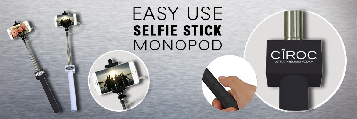 Selfie Stick Monopod branded with logo